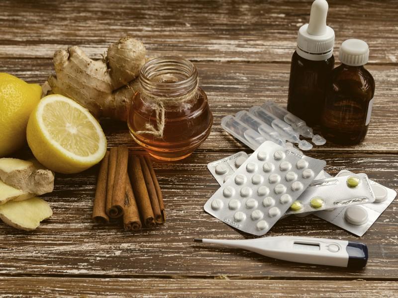 Medicinali che pompano vitamine e nutrimenti